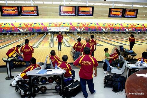 At the Qatar Bowling Center